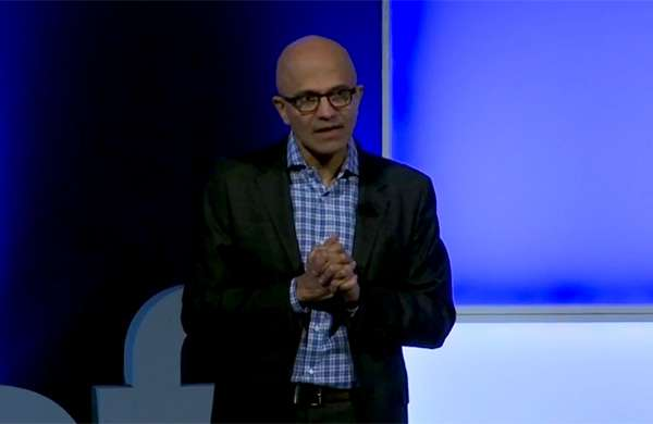 Satya Nadella, CEO Microsoft, all'Innovation Summit di Milano