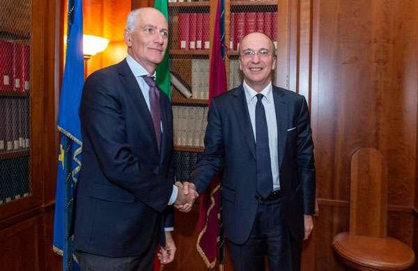 Franco Gabrielli (Polizia di Stato) e Agostino Santoni (Cisco)