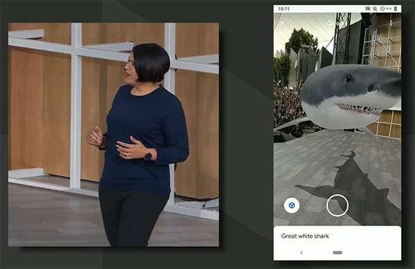 Uno squalo sul palco del Google I/O 2019