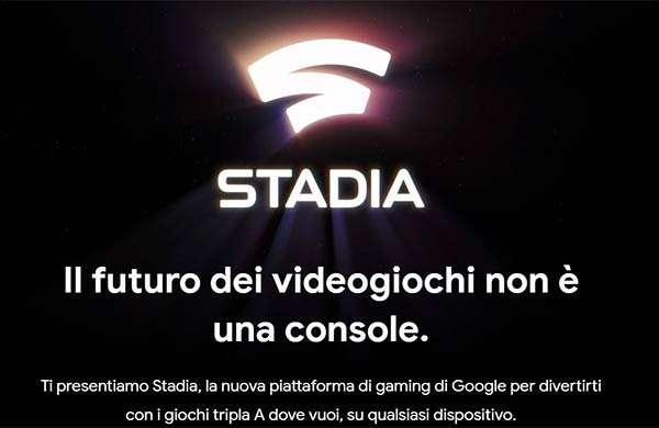 Stadia, la piattaforma di Google per il cloud gaming