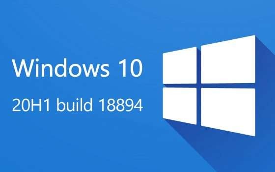 Windows 10 20H1, le novità della build 18894
