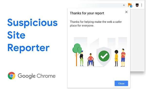 Suspicious Site Reporter per Google Chrome
