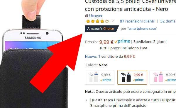 Un prodotto con etichetta Amazon's Choice
