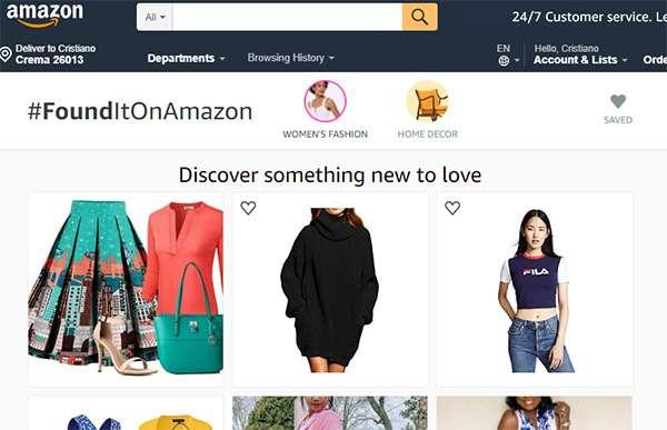 Da Amazon Spark a #FoundItOnAmazon