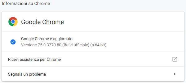 Il browser Chrome di Google si aggiorna alla versione 75
