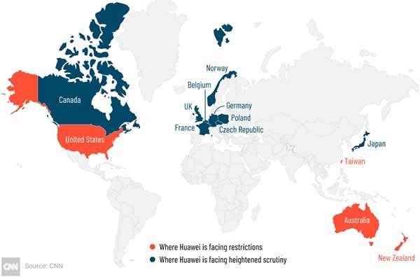 Huawei nel mondo: indagini in corso e blocchi già definiti