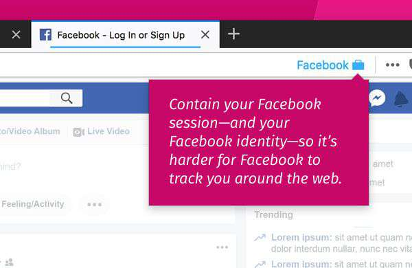 Facebook Container: add-on per Firefox
