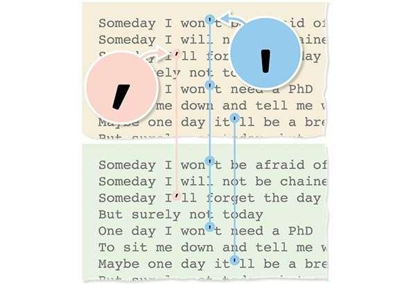 I testi delle canzoni di Genius (sopra) e quelli mostrati da Google (sotto)
