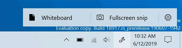Windows 10 20H1 build 18917: Area Windows Ink