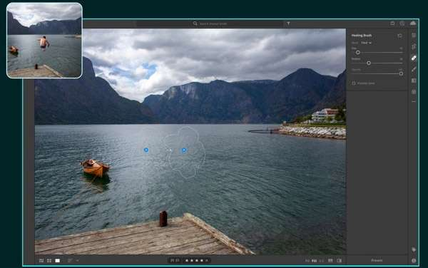 Screenshot per la versione macOS di Adobe Lightroom