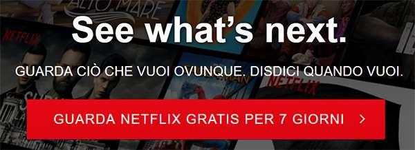 Netflix: la prova gratuita torna in Italia, ma dura sette giorni