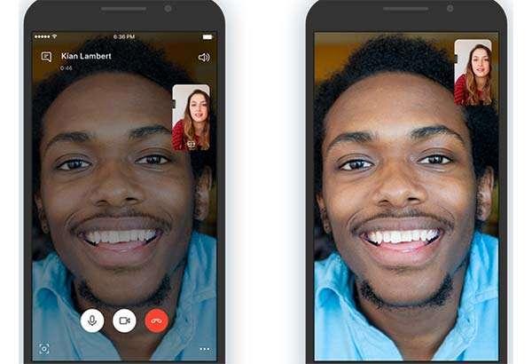 Un'interfaccia più pulita per le videochiamate di Skype
