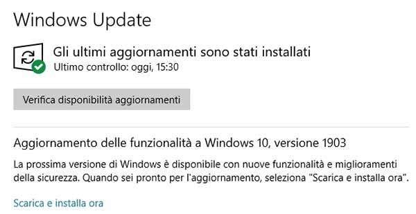 Windows 10 May 2019 Update è disponibile per il download