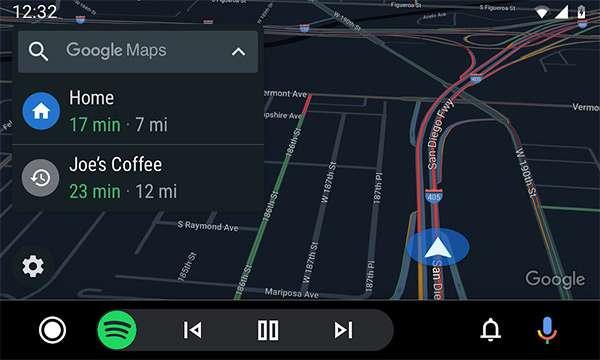 La nuova interfaccia di Android Auto