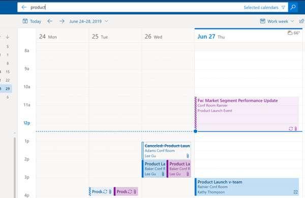 La ricerca nei calendari con il nuovo Outlook sul Web