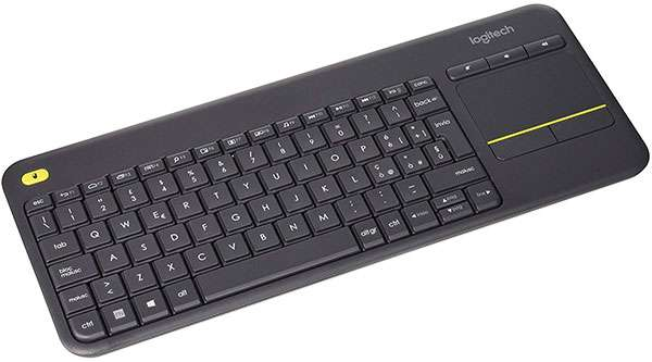 Logitech K400 Plus, tastiera wireless con touchpad