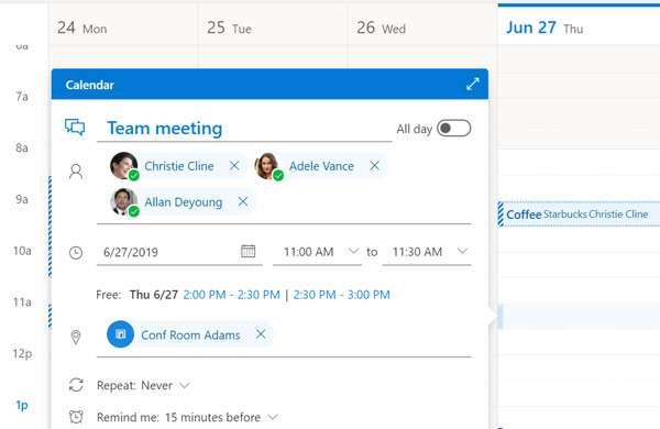 Il nuovo Outlook sul Web: la creazione degli eventi