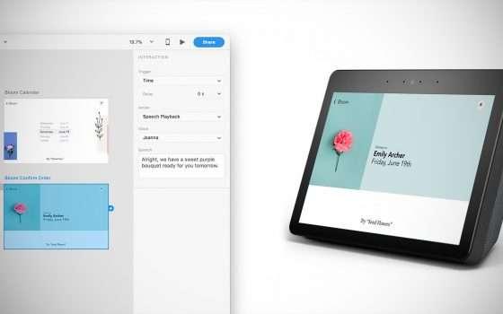Adobe XD abbraccia la tecnologia di Alexa