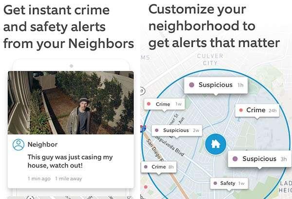 L'applicazione Neighbors di Ring