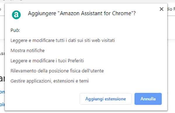 La promo di Amazon Assistant
