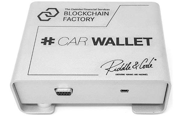 Il car wallet di Daimler e RIDDLE&CODE