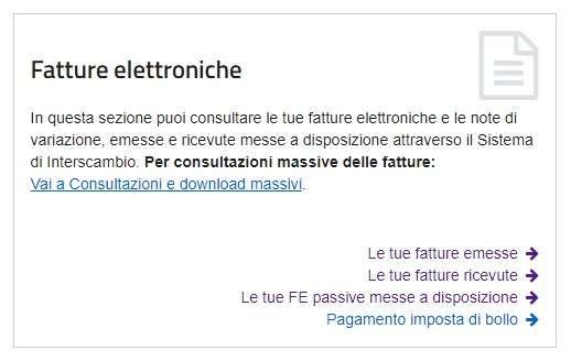 Come consultare le fatture elettroniche