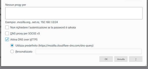 La funzionalità DNS-over-HTTPS in Firefox