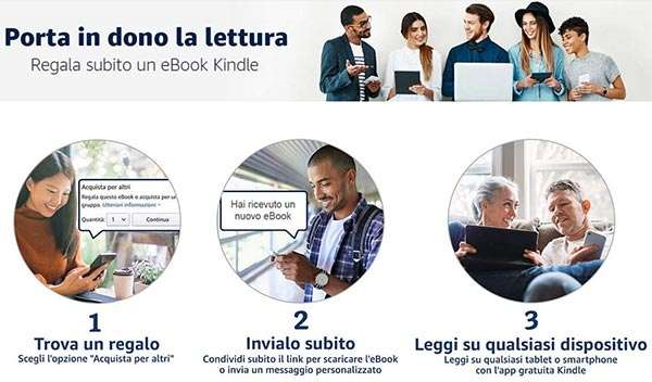 Amazon permette di regalare gli eBook di Kindle