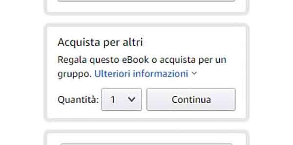 Amazon: come regalare un eBook del catalogo Kindle