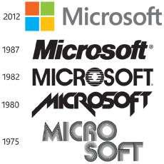 I loghi di Microsoft dalla fondazione a oggi