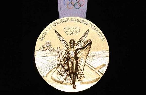 La medaglia d'oro delle Olimpiadi di Tokyo 2020