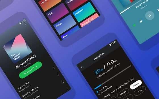 Spotify Lite: lo streaming si fa più leggero