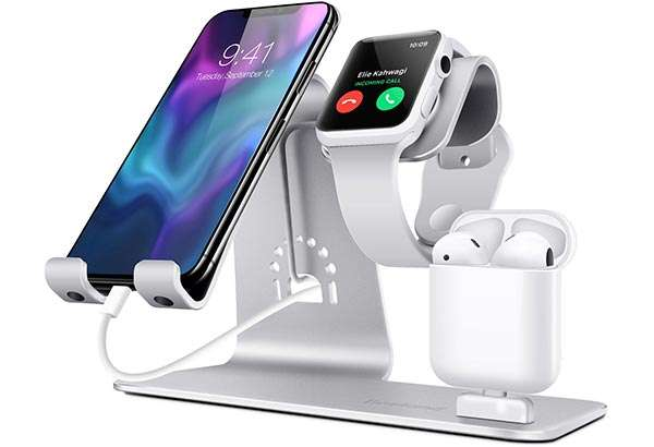 Bestand, dock 3-in-1 per iPhone, iPad, Apple Watch e AirPods con carica batterie