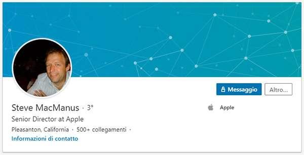 Steve MacManus su LinkedIn
