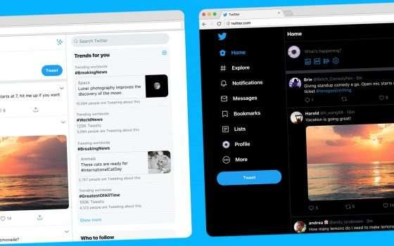 Il restyling di Twitter su desktop è qui