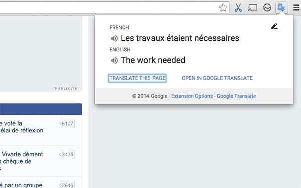 L'estensione di Google Traduttore su Chrome Web Store
