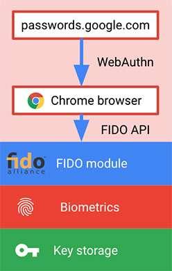 Come funziona l'autenticazione agli account Google nel browser di Android con l'impronta digitale