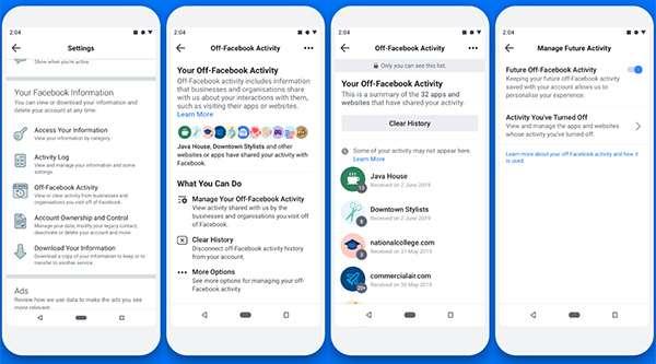 Una feature per controllare le Attività fuori da Facebook