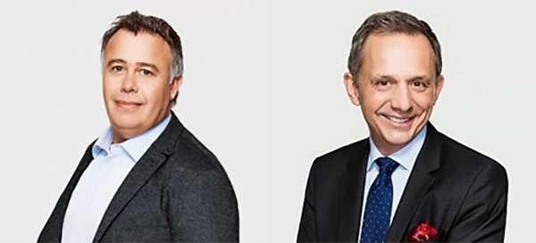 Dion Weisler (a sinistra) ed Enrique Lores (a destra)