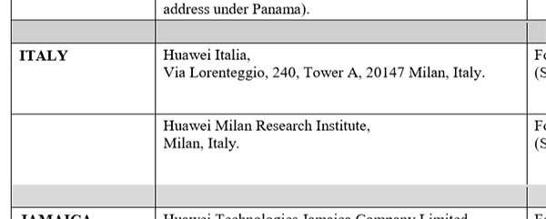 Anche Huawei Italia nella Entity List degli USA