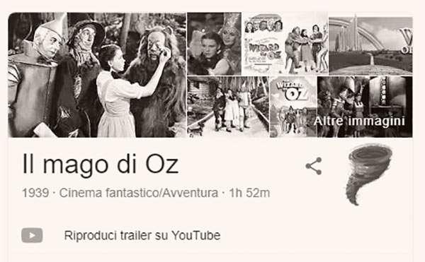 Google e l'easter egg per Il Mago di Oz