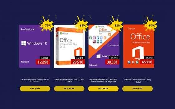 SCDKey: Windows 10 Pro a 12€, ecco i codici sconto