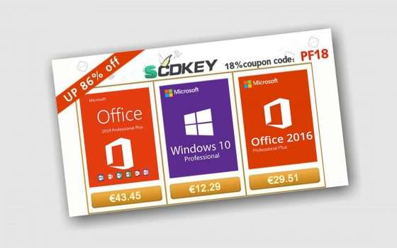 SCDKey: licenze Windows a soli 12€ e altre offerte