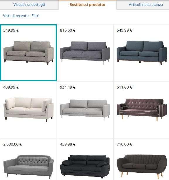Amazon Showroom - tabella