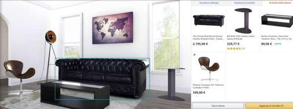 Amazon Showroom: l'interfaccia