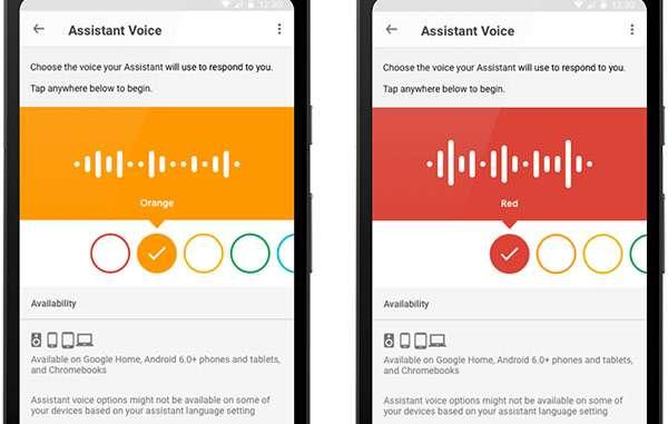 Nuove opzioni per la voce dell'Assistente Google