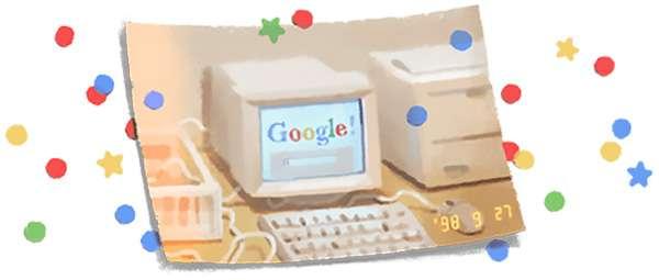 Il doodle per festeggiare il 21esimo compleanno di Google