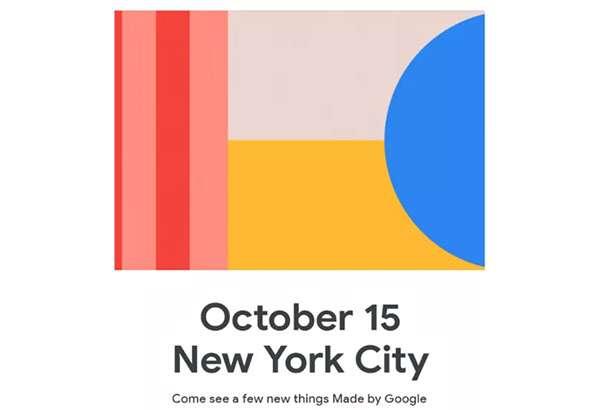 L'invito di Google per l'evento del 15 ottobre dedicato all'hardware