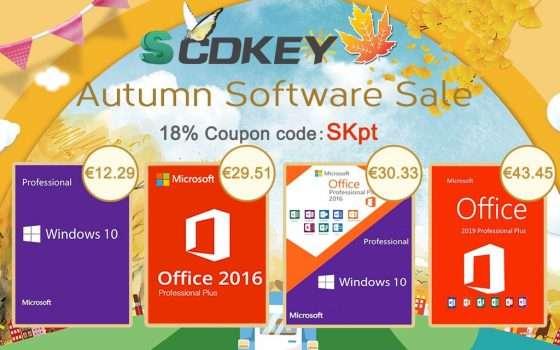 SCDKey, Autumn Sale in vetrina: Windows 10 a 12,29€