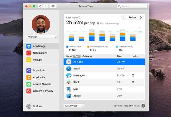 macOS 10.15 Catalina: Screen Time